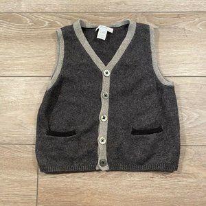 Jacadi Paris Boys Wool Blend Suspender Sweater Gre